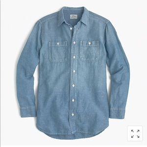NWT Jcrew relaxed chambray shirt button down